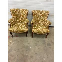 2-french provincial upholstered chairs (excellent condition) 1960's-70's