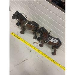 2- porcelain horses- team of geldings- heavy horse