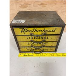 """shop cabinet- weather head- fittings 11"""" w- 9"""" d- 9 1/2"""" tall"""