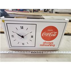 VINTAGE ELECTRIC COCA-COLA CLOCK (WORKING)