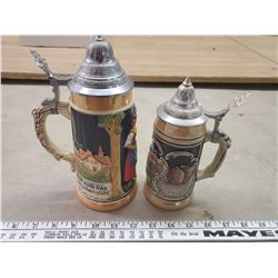2 BEER STEINS (MADE IN GERMANY)