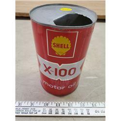 SHELL X-100 QT EMPTY OIL CAN