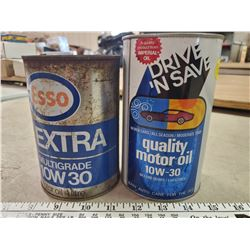 2 ESSO/IMPERIAL OIL QT CANS