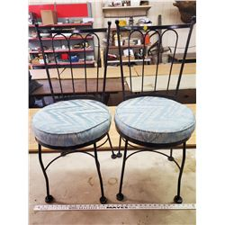 2 STEEL ROD PARLOUR CHAIRS