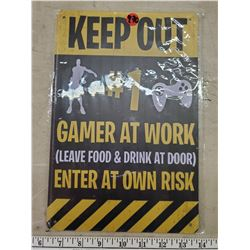 13 X 8 INCH TIN REPRODUCTION SIGN