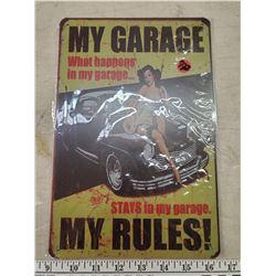 16 X 8 INCH TIN REPRODUCTION SIGN