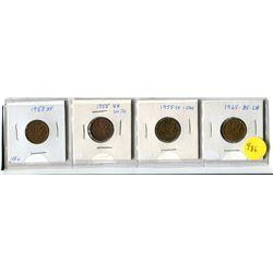 1953 SF, Two - 1955 SF Sm De, 1965 LB, B5 Small Cents
