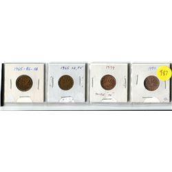 "1965 SB B5, 1965 SB P5, 1979 Dbl ""79"", 1980 PL Small Cents"