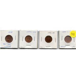 "1979 Dble ""979"", 1983 Far, 1999 Zinc Small Cents"