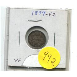 1899-F2 Canadian Silver Five Cent Coin