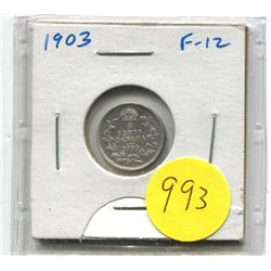 1903 Canadian Silver Five Cent Coin