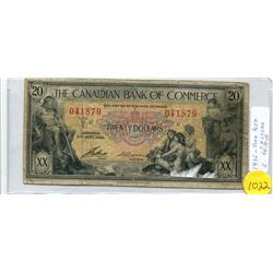 1935 The Canadian Bank of Commerce Twenty Dollar Note