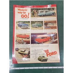ORIGINAL AD FOR 1952 FORD PRODUCTS