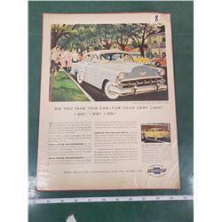 ORIGINAL AD FOR 1954 CHEVROLET