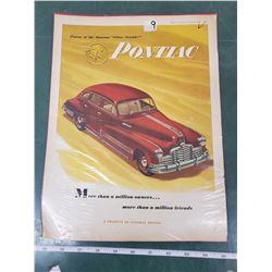 ORIGINAL AD FOR 1946 PONTIAC