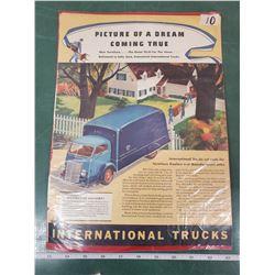 ORIGINAL AD FOR INTERNATIONAL TRUCKS