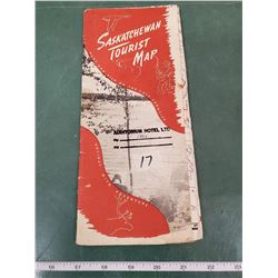 SASKATCHEWAN TOURIST MAP CIRCA 1952