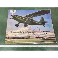 1947 STINSON AIRPLANE PROMO BOOK