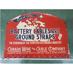 SERVICE STATION BATTERY CABLE SIGN FROM 1950'S