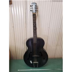 VERY OLD 'F' HOLE GUITAR - PLAYS NICE