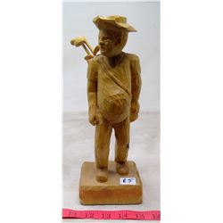 """1996 Gerard Pelletier Woodcarving """"Golfer"""""""