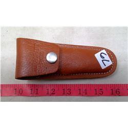 "3"" Folding Knife  Wide Blade with PK500 Duracraft leather Sheath"