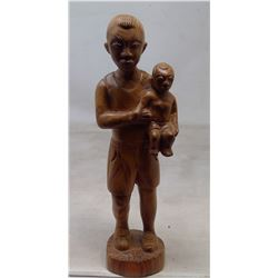 """1982 Israel West Bank Olivewood Carving """"Father and Son"""""""