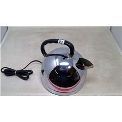 1972 Ever-Bright Ltd. Toronto Can. Mirror Dome Chrome Electric Kettle -- Working