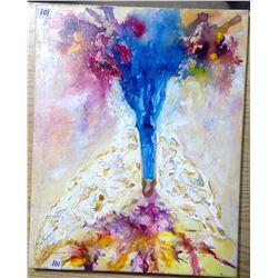 "2013 Original Acrylic on Canvas ""Rainbow Angel Tree"""
