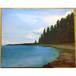 "1993 Original Acrylic on Canvas ""Kingsmere Lake PANP"""