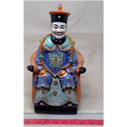 1972 China Painted Porcelain Emporer