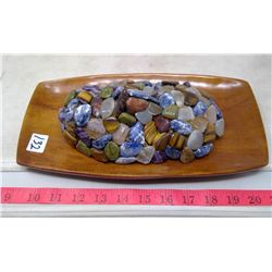 3-D Face of Semi-Precious Stones