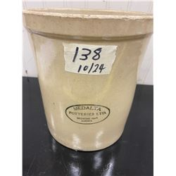 1 Gallon Stamped Medalta Crock Excellent Condition