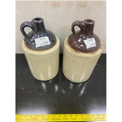 2 1 Gallon Whiskey Jugs