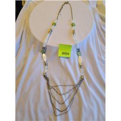 """Lia sophia"" silver beaded multichain necklace"