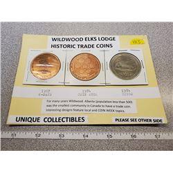 Elks trader coins 1967 bingo, 1984 coin week, 1984 Bingo