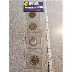 Four seldom seen Canadian 5¢
