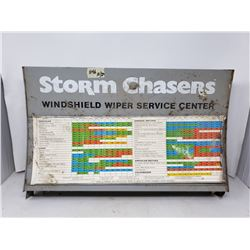 Antique Metal Sign - Storm Chasers Windsheild Wiper Service