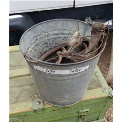 Metal Pail & Well Pulley -(Broken)
