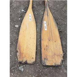 2 Wooden Paddles