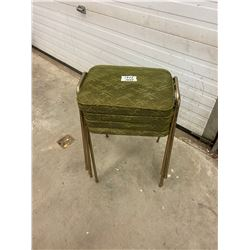4 Stacking Stools 1970's