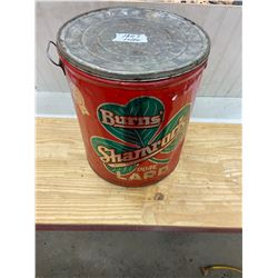 Large Burns Shamrock Lard Pail (50lbs)