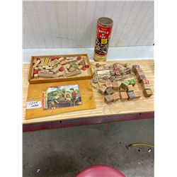 Childs Building Blocks and Case