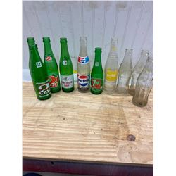 10 Pop Bottles , Coke, 2Way, Pepsi, Nugrape etc.