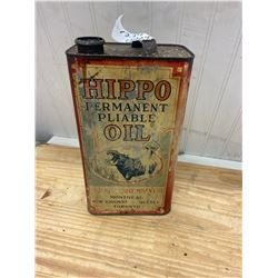Hippo Oil Tin