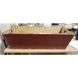 Primitive Red Wood Box