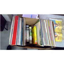 LOT OF RECORDS AND 3 BOOKS
