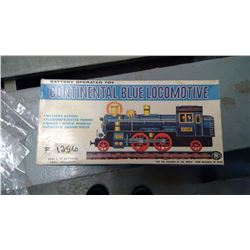 "BATTERY OPERATED ""CONTINENTAL BLUE LOCOMOTIVE"""