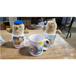 Vintage AVON Peanuts Characters with Cup & Ziggy Mug