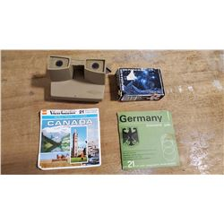 View Master & Reels  Viewmaster, Reel Germany & Canada & Small Space Puzzle